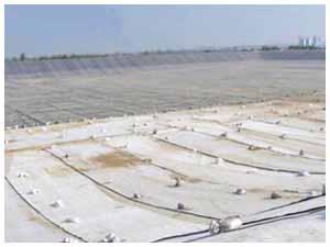 膨润土防水毯施工现场