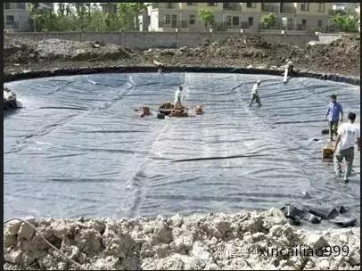 北京公园人工湖复合土工
